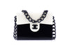 Chanel Vintage Cream and Black Acrylic Flap Bag - Designer Vault - 1