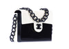Chanel Vintage Cream and Black Acrylic Flap Bag - Designer Vault - 2