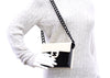 Chanel Vintage Cream and Black Acrylic Flap Bag - Designer Vault - 7