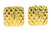 Chanel Gold Quilted CC Logo Square Earrings - Designer Vault - 1