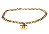 Chanel Gold Cuban Chain CC Pendant Belt - Designer Vault