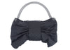 Chanel Black Satin Bow Bag - Designer Vault