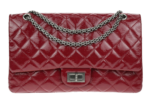 Chanel Red Glazed Aged Calfskin Quilted 2.55 Reissue Double Flap Bag 227