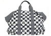 Chanel Black Gingham Weekender Tote Bag - Designer Vault