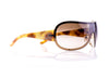 Chanel Brown Tortoise Shell CC Swarovski Crystal Sunglasses 4148-B - Designer Vault