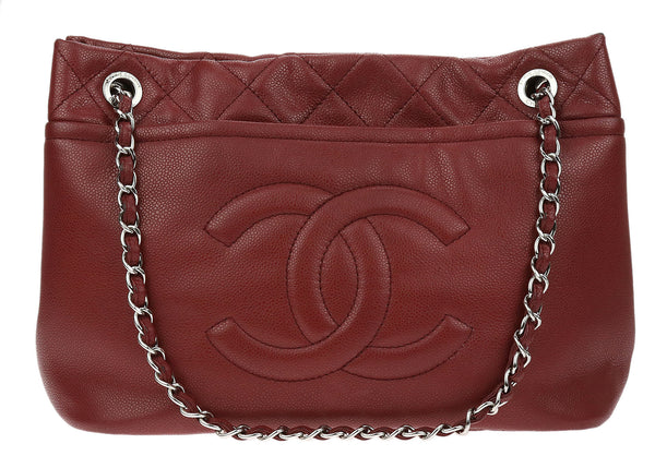 Chanel Red Caviar Timeless CC Soft Tote
