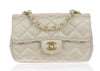 Chanel Satin Gold Mini Flap Bag - Designer Vault - 1