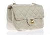 Chanel Satin Gold Mini Flap Bag - Designer Vault - 2