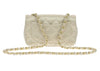 Chanel Satin Gold Mini Flap Bag - Designer Vault - 3