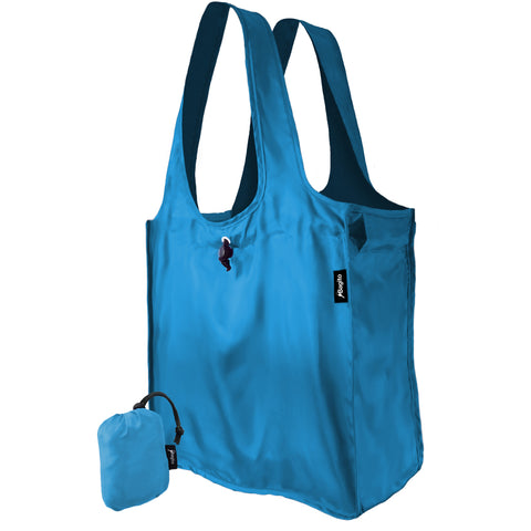 Bagito Deluxe Grande Grocery Bag (Blue) made from rPet