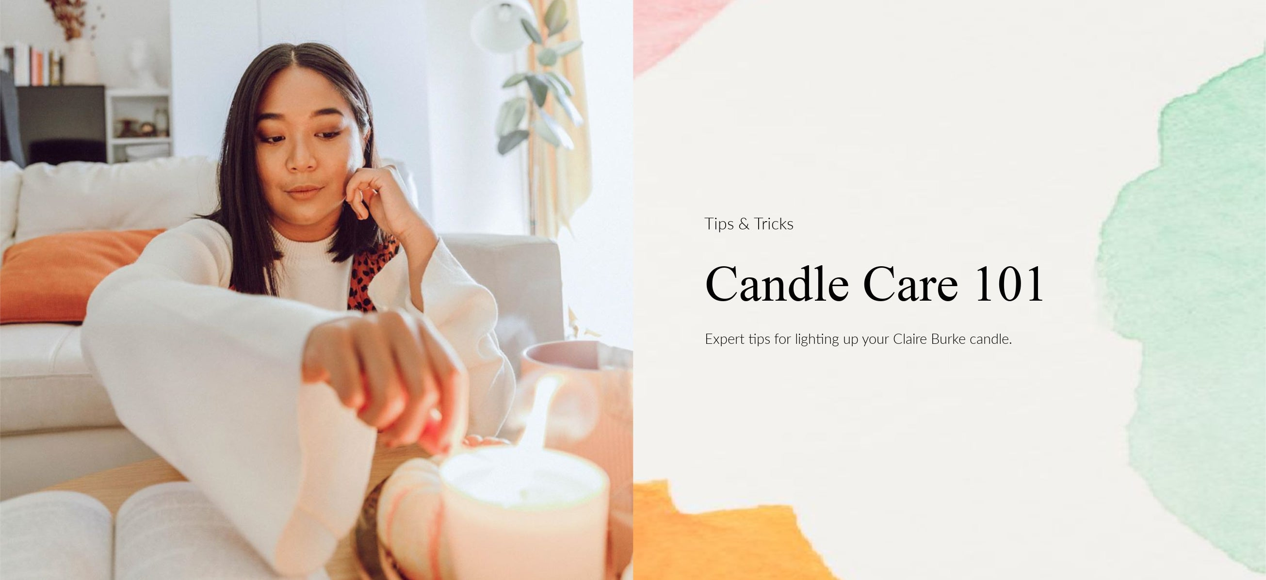 claire burke tips and tricks on burning your candle
