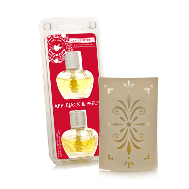 Applejack & Peel Electric Fragrance Warmer Starter Kit - Claire - Burke