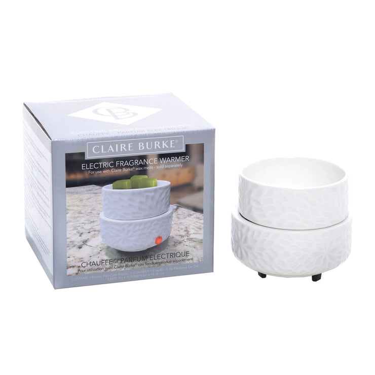 A safe alternative way to enjoy scented candles in your home. Fill your home with wonderful long-lasting Claire Burke® fragrances with the new wax melt warmer.
