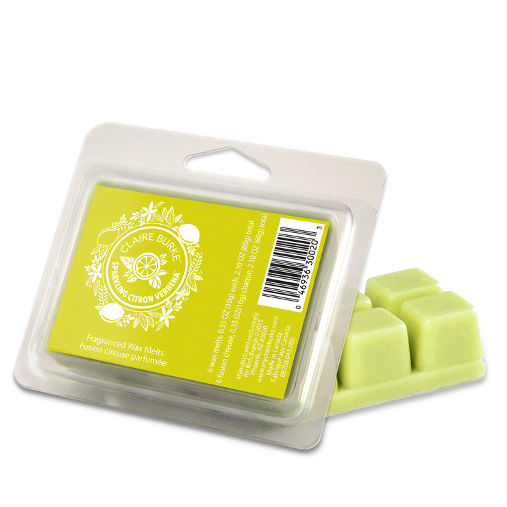Sparkling Citron Verbena fragrance will awaken your senses with crisp citrus essences of Meyer Lemon, Lime and Citron mingled with French Cassis and Verbena Leaves.