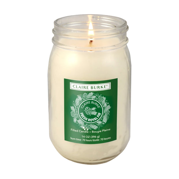 Fresh Royal Fir® Glass Filled Candle