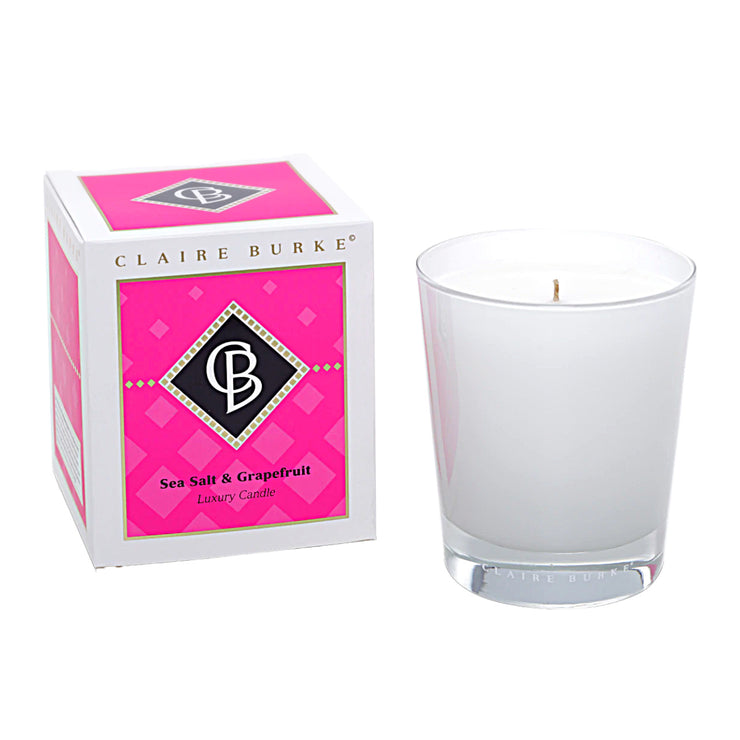 Claire Burke Sea Salt & Grapefruit Candle: The Sea Salt & Grapefruit Candle will Energize your soul with a zesty combination of luxury fragrances and hints of grapefruit, pineapple, and vanilla.