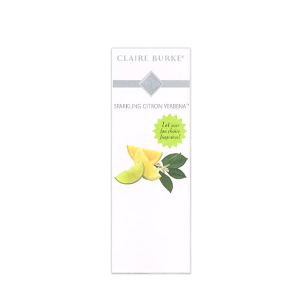 Treat yourself to a little pick-me-up with Claire Burke's first ever fan-choice fragrance Sparkling Citron Verbena™. Awaken your senses with crisp citrus essences of Meyer Lemon, Lime and Citron mingled with French Cassis and Verbena Leaves