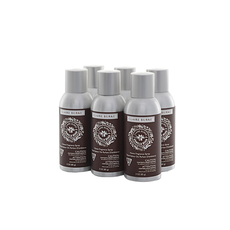 Claire Burke Vanilla Bean Home Fragrance Spray Bundle 6-pack savings