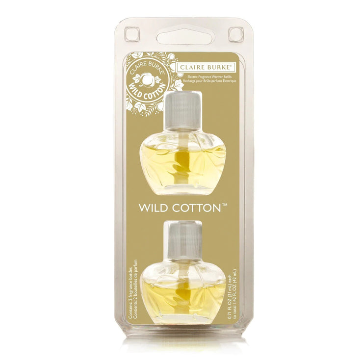 Scent any room with noticeable fragrance for weeks and weeks with the Wild Cotton Electric Fragrance Warmer Wall Plugin. Enjoy the fresh scent of clean cotton, spring lilies, white freesia, followed by a hint of vanilla.