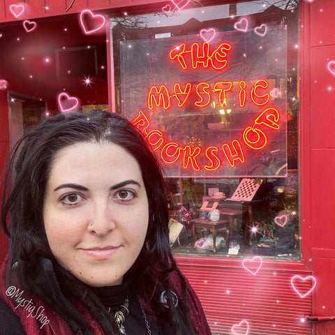 Marina in front of the Mystic Bookshop in London, ON