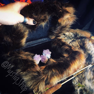 Handmade Faux Fur Jewelry / Crystal Box