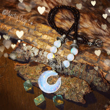 Load image into Gallery viewer, 🌙Opalite & Moonstone CrescentMoon Necklace