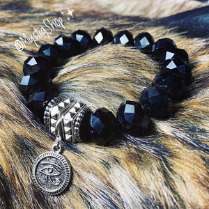 🖤Black Eye of Horus Bracelet