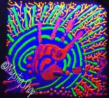 "Load image into Gallery viewer, UV Painting: ""Reiki Vibe"""