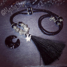 Load image into Gallery viewer, Black Tassel Necklaces