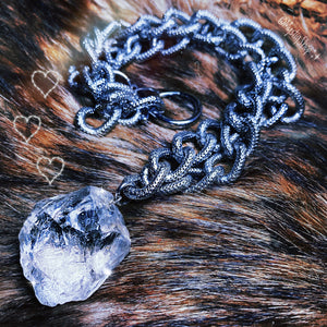 💎Edgy ClearQuartz Chain Necklace