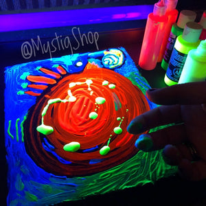 "UV Painting: ""Playful Vibe"""