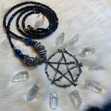 Load image into Gallery viewer, Pentagram Rainbow Hematite Necklace
