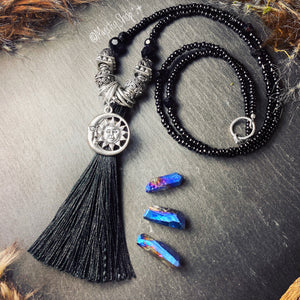 Black Tassel Necklaces