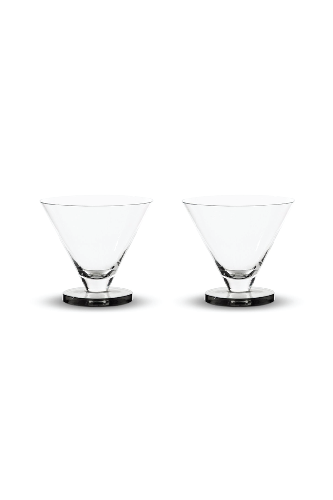 TOM DIXON PUCK COCKTAIL GLASSES PAIR