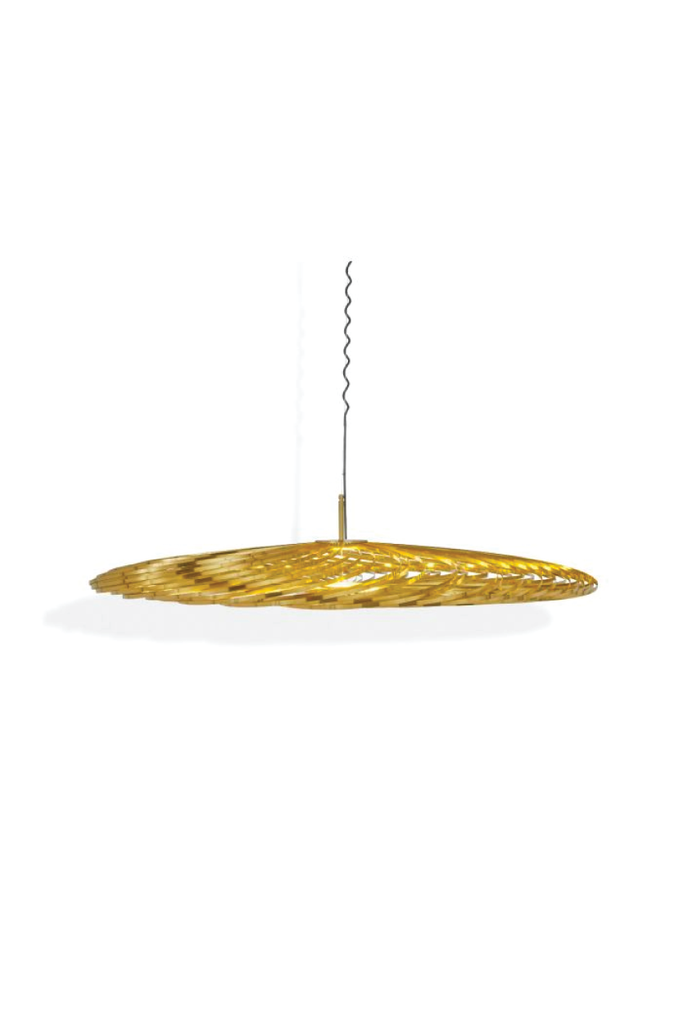 TOM DIXON SPRING PENDANT BRASS LARGE