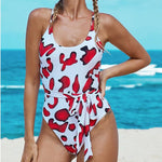 Sexy Print One-piece Beach Bikini