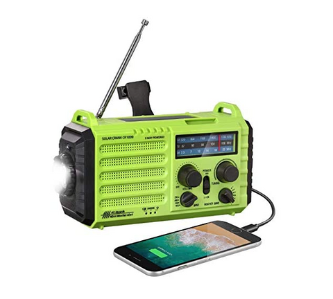 Emergency Solar Hand Crank Radio