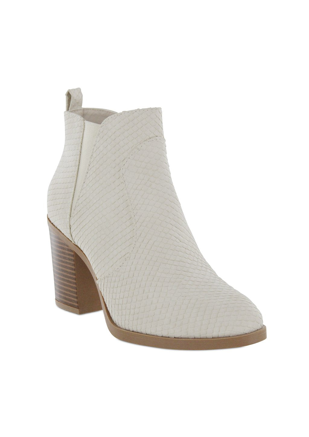 Mia Ivory Snake Booties