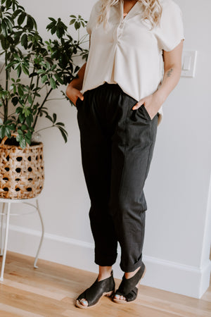 Charcoal Cropped Capris