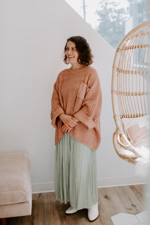 Blush Shortsleeve Chunky Sweater