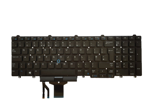 Dell Latitude E5550 E5570 E5580 UK QWERTY Keyboard 0JX78 - Black Cat PC - The Dell Part Specialists