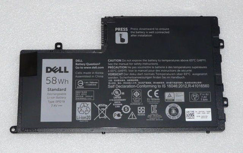 Dell Inspiron / Latitude 4 Cell Laptop Battery 58wh 0PD19, 2GXTM, 451-BBJY | Black Cat PC