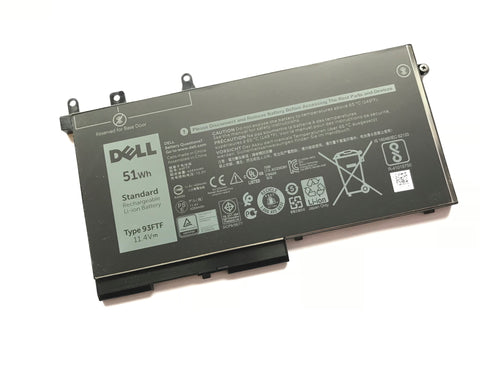 Dell Latitude 5280, 5480, 5580, 5490, 5495 Laptop Battery 3 cell 51wh 93FTF | Black Cat PC | Dell
