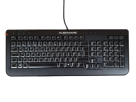 Dell Alienware USB Keyboard QWERTY UK Layout 5Y4GF DCHF6 | Black Cat PC