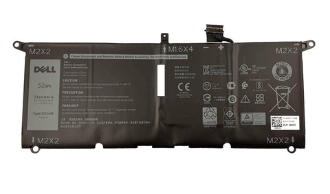 Dell XPS 9370, 9380 Laptop Battery 52WH 7.6V DXGH8 G8VCF H754V | Black Cat PC