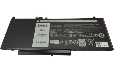 Dell Latitude E5450, E5550 51Whr 4-Cell Laptop Battery Type G5M10, WYJC2 | Black Cat PC