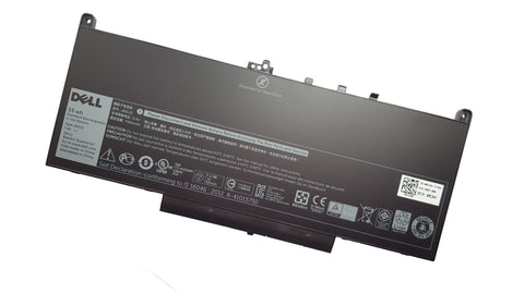Dell battery Latitude E7270, E7470 4 Cell 55wH J60J5 MC34Y 1W2Y2 242WD GG4FM - Black Cat PC - Providing Dell Parts Since 1998