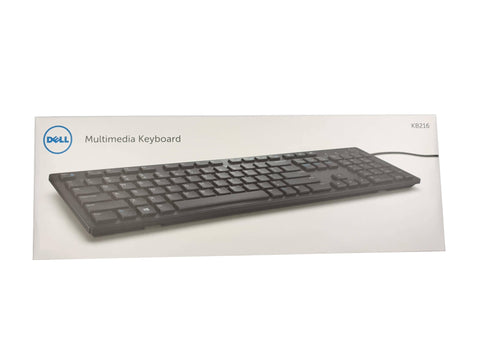 Dell KB216 USB UK Multimedia Desktop Keyboard QWERTY 580-ADGV | Black Cat PC