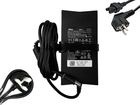 DELL Precision, XPS, Inspiron PA-4E laptop charger 130W WRHKW, VJCH5 - Black Cat PC - The Dell Part Specialists