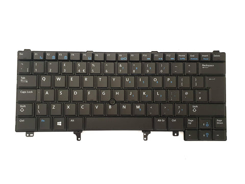 Dell Latitude E6220 E6230 E6430 E6440 UK QWERTY Non-Backlit Keyboard YW6W9 | Black Cat PC